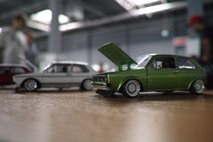 Automobili miniatura Immagine Stock