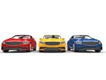 Automobili moderne - colori primari illustrazione di stock