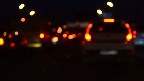 Automobili nel traffico stock footage
