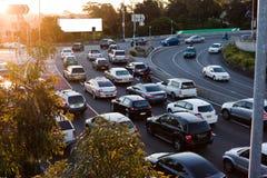 Automobili nel traffico Fotografia Stock Libera da Diritti