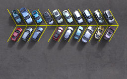 Automobili parcheggiate fotografie stock