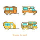 Automobili per il viaggio Fotografia Stock