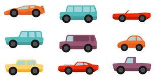 Automobili piane di stile messe Fotografia Stock