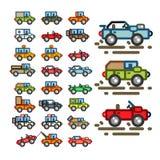 Automobili piane per l'applicazione del gioco royalty illustrazione gratis
