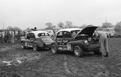 Automobili secondarie di Morris, Inghilterra Fotografia Stock Libera da Diritti