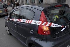 Automobili sigillate polizia di DENMARK_stop Fotografia Stock