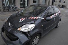 Automobili sigillate polizia di DENMARK_stop Fotografia Stock Libera da Diritti