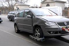 Automobili sigillate polizia di DENMARK_stop Immagini Stock Libere da Diritti