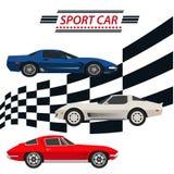 Automobili sportive illustrazione vettoriale