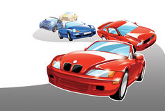 Automobili sportive royalty illustrazione gratis