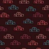 Automobili su un fondo marrone Fotografia Stock Libera da Diritti