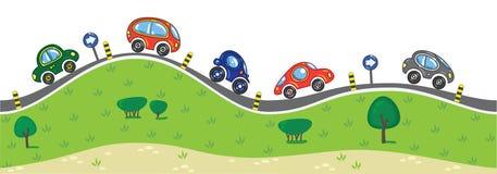 Automobili sulla strada Fotografia Stock