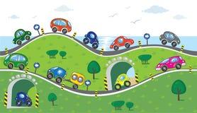 Automobili sulla strada Fotografia Stock Libera da Diritti