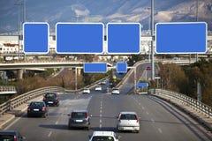Automobili sulla strada principale Fotografia Stock Libera da Diritti
