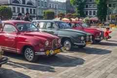 Automobili vecchie di Saab Fotografia Stock Libera da Diritti