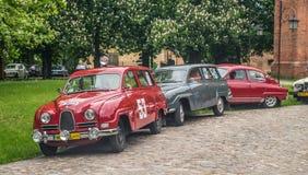 Automobili vecchie di Saab Fotografie Stock Libere da Diritti