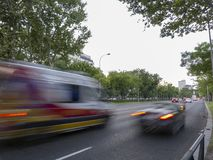 Automobili in via di Castellana immagini stock libere da diritti