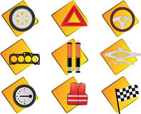 Automobilikonen Lizenzfreies Stockfoto