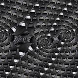 Automobilindustrie-Zusammenfassung Fractal-Hintergrundmuster von Sportwagenautomobilradelement-Bremsscheibe-Reifenspeichen Gewund vektor abbildung