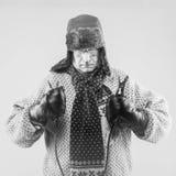 Automobilismo di inverno fotografia stock libera da diritti