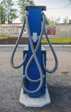 Automobilowa benzynowa podsadzkowa kolumna Zdjęcia Royalty Free