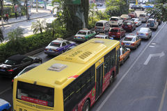 Automobilowa kolejka zdjęcie stock