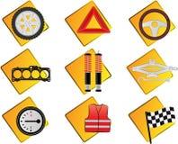 automobilowe ikony Zdjęcie Royalty Free