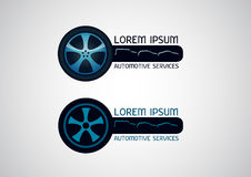 Automobilowe, samochodowe usługa, wektorowy logo Zdjęcie Royalty Free
