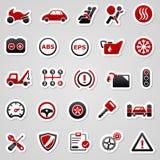 Automobilowi czerwoni majchery ilustracja wektor