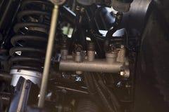 Automobilowy benzyna silnik fotografia stock
