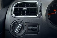 Automobilowy powietrza uwarunkowywać Przepływ powietrze wśrodku pojazdu zdjęcie stock