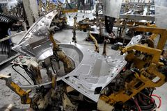 Automobilproduktion Lizenzfreies Stockbild