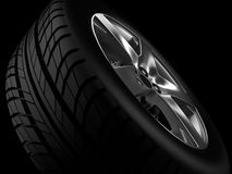 Automobilrad oder Reifen Stockbild