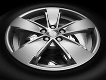 Automobilrad oder Reifen stock abbildung