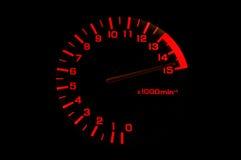 Automobiltachometer sogar schneller Lizenzfreie Stockfotografie