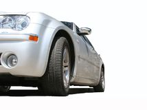 Automotive. Very dear car of silvery color Royalty Free Stock Photos