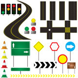 Automotive. Collection of road markings and sign that can be used in your own design Stock Photos