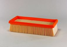 Automotive air filter. Car air filter isolated on white background Stock Image