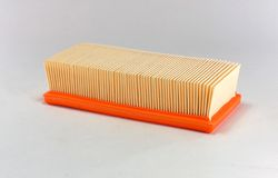 Automotive air filter Stock Images