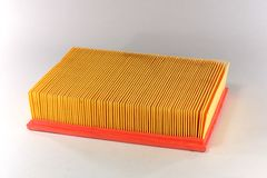 Automotive air filter. Car air filter on white background Royalty Free Stock Photos
