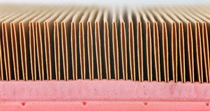 Automotive air filter detail Royalty Free Stock Image