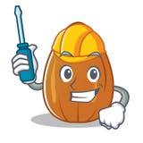 Automotive almond nut character cartoon Stock Photo