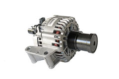 Car alternator. Automotive alternator isolated on a white background Stock Photography