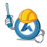 Automotive Ardor coin mascot cartoon. Vector illustration Royalty Free Stock Images
