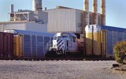 Automotive area Railyard Detroit. Auto train cars in yard Stock Photography