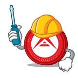Automotive Ark coin mascot cartoon. Vector illustration Royalty Free Stock Photo