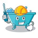 Automotive bathtub character cartoon style Royalty Free Stock Image