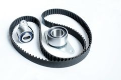 Automotive belt drive kit stock image