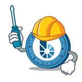 Automotive BitShares coin mascot cartoon. Vector illustration Stock Photo