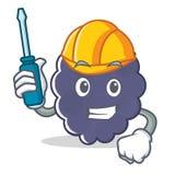 Automotive blackberry mascot cartoon style. Vector illustration Royalty Free Stock Images